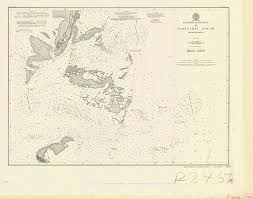 Historical Nautical Chart 250 05 1902 Entrance To Nantucket Sound