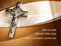 Free Church Powerpoint Backgrounds Free Crucifix Ppt Template