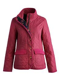 SALE Joules Ladies Moredale Quilted Jacket | Webury & Women's Moredale Quilted Ruby Red Jacket from Joules Adamdwight.com