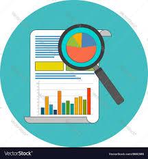 Data Analysis Concept Flat Design Icon In
