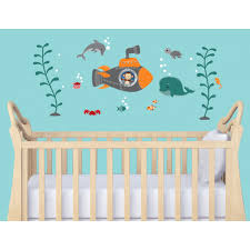 nursery wall decals with nautical wall decor for baby room