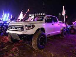 Long Travel Toyota Tundra Prerunner by LSK with Supercharger