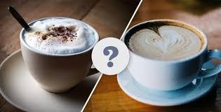 caffé latte cappuccino and cortado