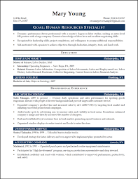 Human Resources Resume Resume Cv Cover Letter