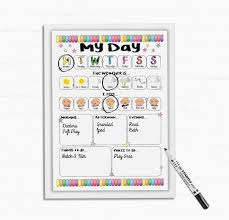 Kids Daily Routine Chart Kids Daily Planner All About My Day Daily Schedule Dry Wipe Board Now And Next For Boys And Girls Dry Wipe Board