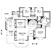 Contemporary Style House Plan - 4 Beds 3.50 Baths 3317 Sq/Ft Plan #48