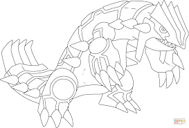 Small Picture Groudon Pokemon coloring page Free Printable Coloring Pages