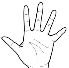 手 白黒線画左手手掌面 リハイラスト Ptotstニュース