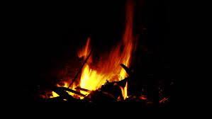 a campfire is burning in the night hd stock clip