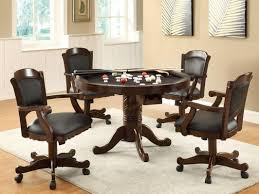 livingroom beautiful dinette with caster chairs kitchen dining table rolling room roller rattan wheeled magnificent