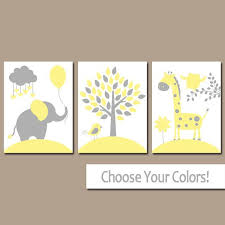 yellow gray nursery wall art canvas or prints baby by trmdesign on grey and yellow wall art nursery with yellow gray nursery wall art canvas or prints baby by trmdesign