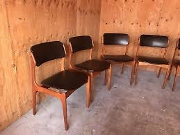 2 of 10 set of 6 mid century danish modern erik buch od mobler teak dining chairs