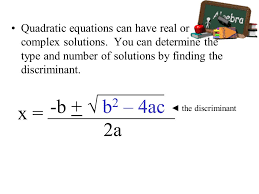 quadratic equations and functions ppt finding complex solutions of quadratic equations worksheet finding complex solutions
