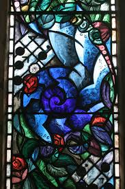 light window glass pattern colourful blue church material stained glass flowers memorial faith decorative bright