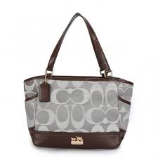 Coach Legacy Logo In Monogram Small Grey Totes BPI