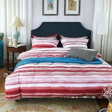 queen bed duvet blue red striped duvet covers red and white stripes print bedding set high quality sanding cotton