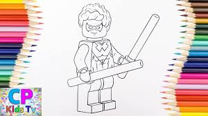 Lego Nightwing Coloring Pages For Kids How To Color Nightwing
