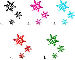 Christmas Snowflakes Pictures Christmas Holiday Snowflakes Waterslide Nail Decals