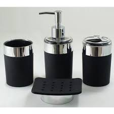 Classic Look with White and Black Bathroom Accessories Bath Decors