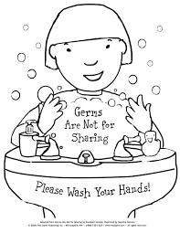 handwashing coloring pages hand washing for preschoolers free printable page to teach kids germ handwashing coloring pages
