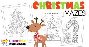 Christmas worksheets and teaching resources for esl students. Free Printable Christmas Mazes Superstar Worksheets