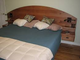 hand crafted custom king size pedestal bed with drawers by puddle
