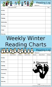 Free Weekly Winter Reading Charts 3 Dinosaurs