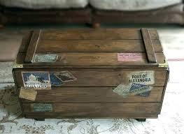 wooden trunk chest vintage storage trunk wooden trunks and chests personalised steamer travel chest vintage storage