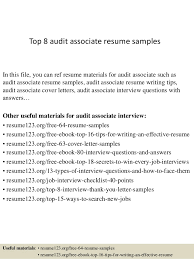 Top 8 audit associate resume samples In this file, you can ref resume  materials for ...