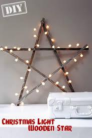 diy christmas lighting. DIY Christmas Light Wooden Star \u2013 Top Easy Interior Design For Party Decor Project Diy Lighting N