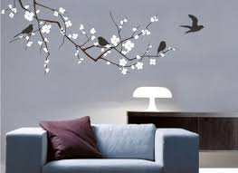 wall decal cherry tree branch with birds vinyl wall art tree wall on tree branches vinyl wall art with 40 tree branches wall decal wall decor decal sticker removable