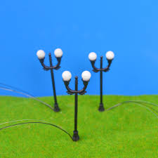 O Scale Street Lights Us 23 66 9 Off 100pcs 2 Head Lights Model Railway Scale Lamppost Lamps Street Lights O Scale 5 7 Cm For Architecture In Model Building Kits From
