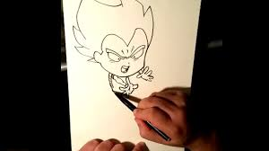 Comment Dessiner Vegeta En Chibi Pas Pas Drawing Vegeta Chibi