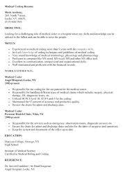 Medical Billing Resume Resume For Medical Coder Resume For Medical