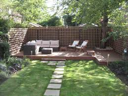 Small Picture Small Modern Backyard Garden With Green Grass And Footpath Plus