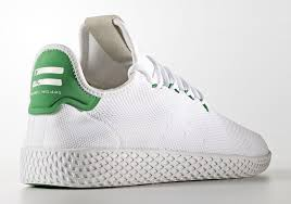 adidas pharrell. it looks like the pharrell adidas tennis hu will also release stateside this saturday, may 6th in 2 debut colorways referencing some of three stripe\u0027s