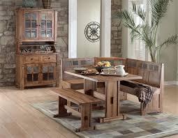 arizona rustic oak corner breakfast nook hutch and buffet set dining room