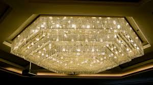 very large and beautiful modern crystal chandelier