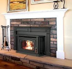 replace propane fireplace with wood stove i like this pellet stove with a mantel cost to