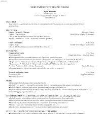 Resume After College Essayscope Com