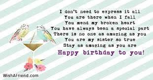 Quotes For Sister Birthday Amazing Sister Birthday Quotes Page 48