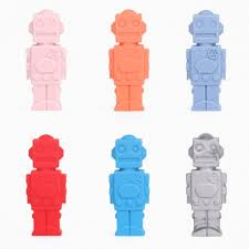 <b>Robot</b> Shape Baby Teether Children Pencil Pen Cap Silicone Food ...