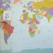 world map wallpaper nursery room map mural