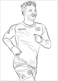 Dries Mertens Coloring Page Free Printable Coloring Pages