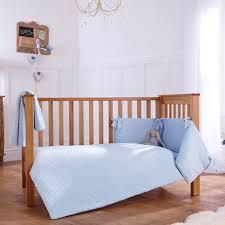 clair de lune dimple 3 piece cot cot bed bedding bale blue