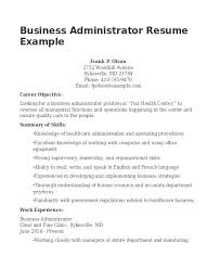 Objective For Business Resume Administrative Assistant Resume