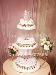 3 Tier Iron Wedding Cake Stand 3060 Cm Aksesoris Dapur Gratis