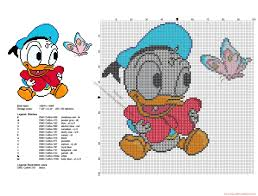 Baby Disney Donald Duck With Butterfly Cross Stitch Pattern Baby