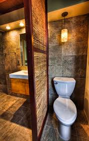 Feel Natural Vibe In Your Private Bathroom With These Trendy Bamboo Impressive Partition For Bathroom Style