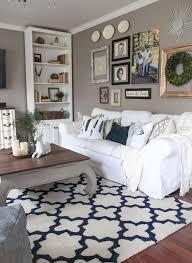 white slipcovered rp sofa for a shabby chic living room
